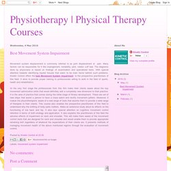 Physical Therapy Courses: Best Movement System Impairment