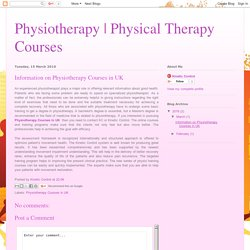 Physical Therapy Courses: Information on Physiotherapy Courses in UK