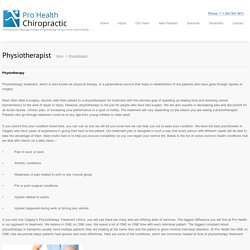 NW Calgary Physiotherapy, Northwest AB physiotherapist: Pro Health