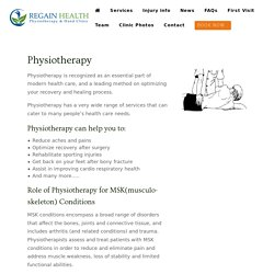 Physiotherapy Clinic in Langley, BC - Regain Health Physiotherapy