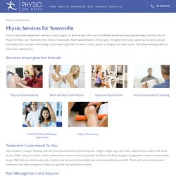 Physiotherapy in Annandale and Townsville