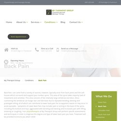 Back Pain Physiotherapy Treatment Center in Frankston, Victoria