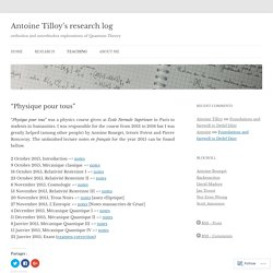 Antoine Tilloy's research log
