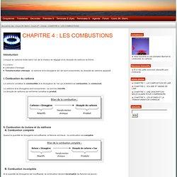 PhyMie - la Physique et la Chimie au Mont Saint Jean : CHAPITRE 4: LES COMBUSTIONS