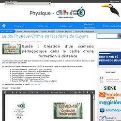 Le site Physique-Chimie de l'académie de Guyane