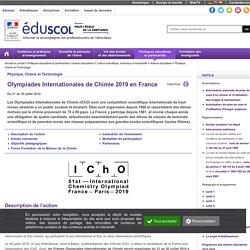 Physique, Chimie et Technologie - IChO France 2019