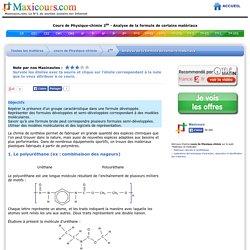 Cours de Physique-chimie 2de - Analyse de la formule de certains matériaux