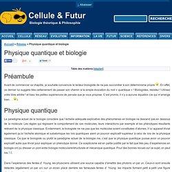 Physique quantique et biologie