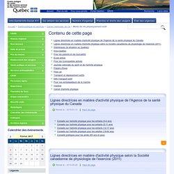 Mode de vie physiquement actif - Agence de la santé et des services sociaux du Bas-Saint-Laurent