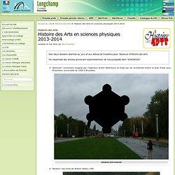 Histoire des Arts en sciences physiques 2013-2014 - Collège Longchamp à Marseille