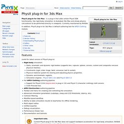 PhysX plug-in for 3ds Max - PhysX Wiki
