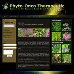 Phyto-Onco Therapeutic Database
