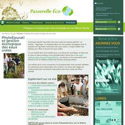 PhytoEpuration et gestion écologique des eaux usées