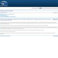 PARLEMENT EUROPEEN - Réponse à question E-016011-15 Demande d'approbation de substances de base conformément au règlement (CE) n° 1107/2009 concernant la mise sur le marché des produits phytopharmaceutiques