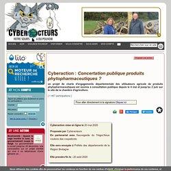 Concertation publique produits phytopharmaceutiques ? cyberaction