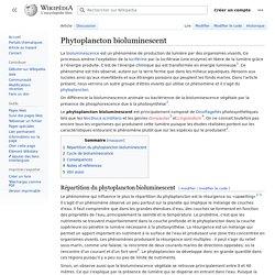 Phytoplancton bioluminescent