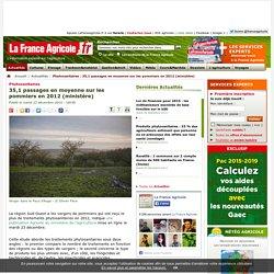 FRANCE AGRICOLE 23/12/14 Phytosanitaires - 35,1 passages en moyenne sur les pommiers en 2012 (ministère).