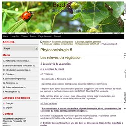 Phytosociologie 5