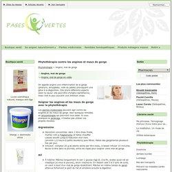 Phytothérapie contre les angines et maux de gorge