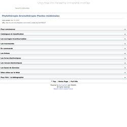 Phytothérapie-Aromathérapie-Plantes médicinales - Libguides Aix Marseille Université mobiles