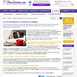 phytothérapie et sommeil: comment mieux dormir