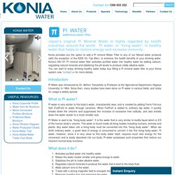 Konia Water Products