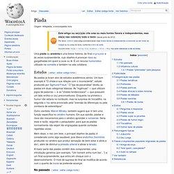Piada - Wikipédia, a enciclopédia livre