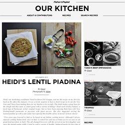 Heidi's lentil piadina
