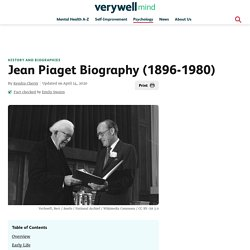 Jean Piaget: Life and Theory of Cognitive Development