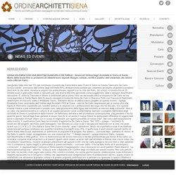 Ordine degli Architetti pianificatori paesaggisti conservatori della provincia di Siena - Comunicazioni Ordine
