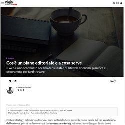 Cos'è un piano editoriale e a cosa serve
