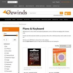 Piano and Keyboard Print Publications