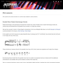 Mini Jazz Piano Lessons