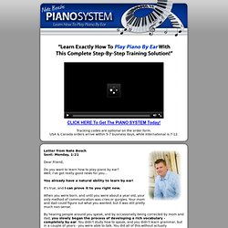 Piano System » Learn How To Play Piano By Ear!