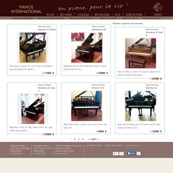 Pianos à queue d'occasion