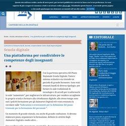 Una piattaforma per condividere le competenze degli insegnanti