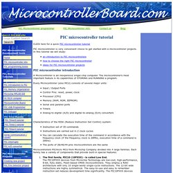 PIC microcontroller tutorial
