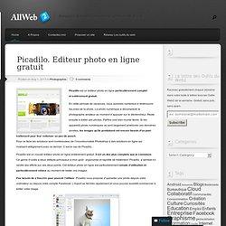 Picadilo. Editeur photo en ligne gratuit