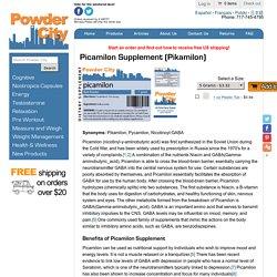 Picamilon Supplement Benefits and Reviews (Pikamilon)