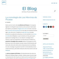 El Blog del Museu Picasso de Barcelona » Blog Archive » La cronología de Las Meninas de Picasso