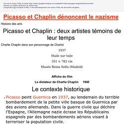 Picasso et Chaplin dénoncent le nazisme