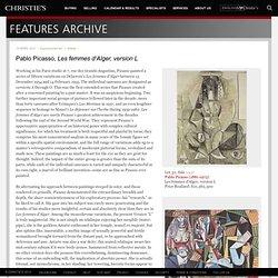 Pablo Picasso, Les femmes d'Alger, version L