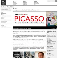 Picasso: masterpieces from the Musée National Picasso