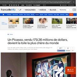 Un Picasso, vendu 179,36 millions de dollars, devient la toile la plus chère du monde