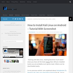 How to Install Kali Linux on Android - Tutorial With Screenshot - PicaTesHackZ: IT Security