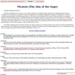 Picatrix (The Aim of the Sage) of pseudo-Majriti (summary)