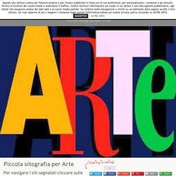 Piccola sitografia per Arte