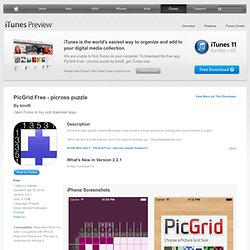 PicGrid Free - picross puzzle on the App Store on iTunes