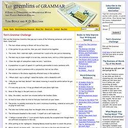 Pick Out the Grammar Gremlins