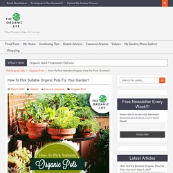 How To Pick Suitable Organic Pots For Your Garden?